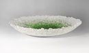 Frost dish green & clear